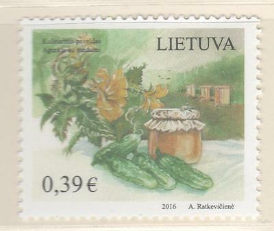 LIETUVA LITHUANIA 1916 MNH,  Culinairy Heritage Cucumbers with Honey, Bees Hives