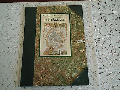 COUNTY MAPS OF ENGLAND in a folder