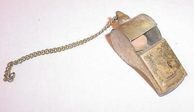 Vintage Noble Brass Whistle With Cork Ball