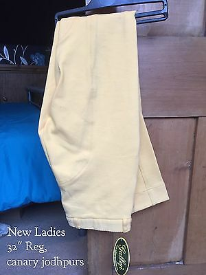 New Gallop Canary Ladies Jodhpurs Size 32""