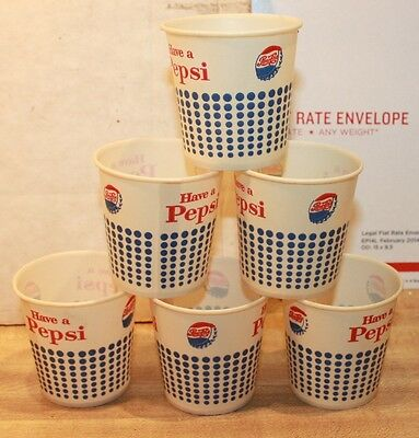 Vintage 6 1964 Pepsi Pepsi-Cola Paper Taster Cups - 4 Ounce Size