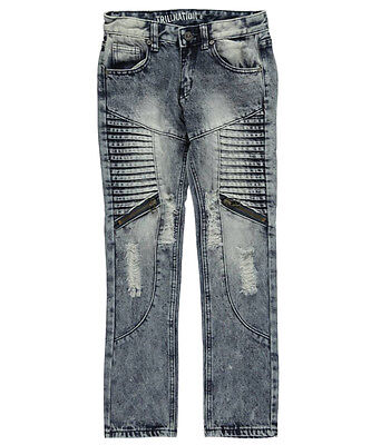 """Trillnation Big Boys' """"To the Core"""" Skinny Jeans (Sizes 8 - 20)"""