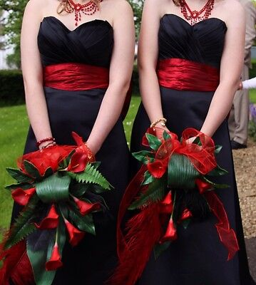 Evening Dress Bridesmaid Prom Black Size 10 12 14 2 Available