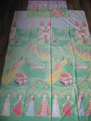 Princess duvet cover and pillow case single bed size