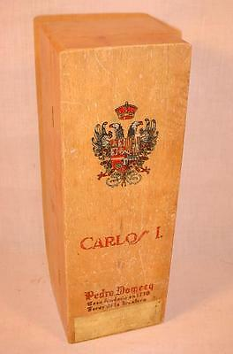 Vintage Pedro Domecq Carlos I Sherry / Brandy / Wine Box