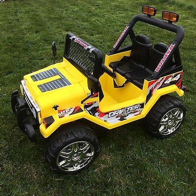 Kids 12V Raptor Electric Ride On Car 4X4 Jeep | 2-Seats | Remote Control | White