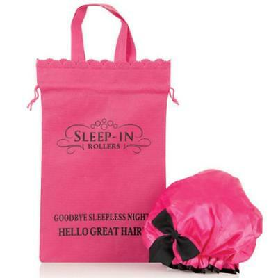 Shower Cap Extra Large by Sleep In Rollers + Pink Bag