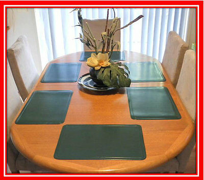 New! Set of 6 Dark Green Kitchen Placemats Place Mats Dinner Table Decor Party