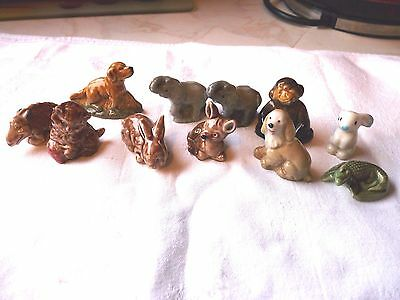 Job Lot of 11 Wade Whimsy animals, various in good condition