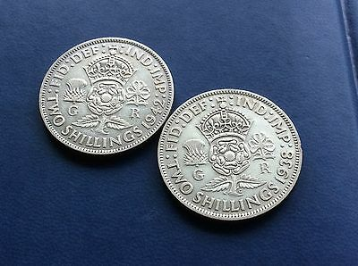 Two George VI Florins dated 1938 & 1942