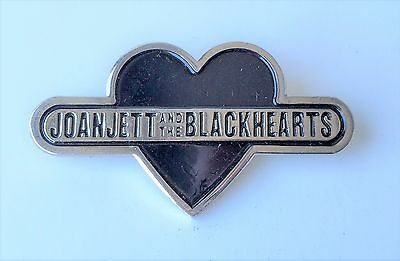 Joan Jett and the Blackhearts SET OF TWO - Heavy Duty Promotional Pins - VINTAGE