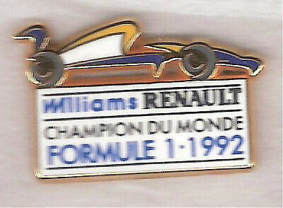pin's voiture Williams RENAULT F1 1992 Arthus BERTRAND