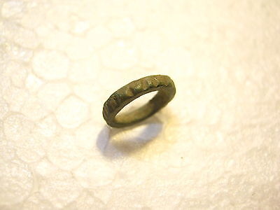 Ancient Celtic Engraved Bronze Hair Ring