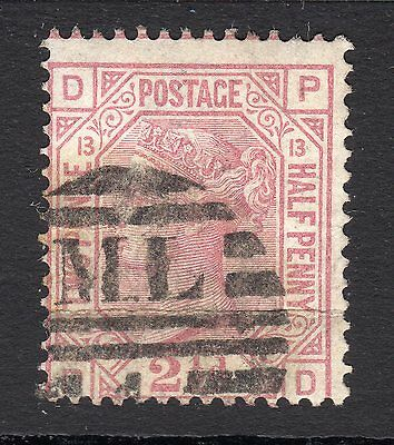 SG141   2½d Rosy Mauve  Plate 13 - Wmk Orb -  Fine Used  - Cat £85