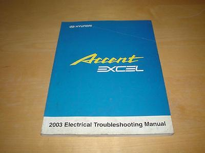 HYUNDAI ACCENT EXCEL ELECTRICAL WORKSHOP MANUAL Owners Handbook Service Book