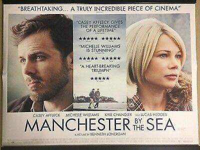 MANCHESTER BY THE SEA Original UK Cinema Quad Poster.