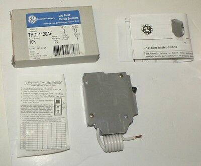 GE General Electric 1 Pole 20 Amp THQL1120AF  Arch FAULT CIRCUIT BREAKER
