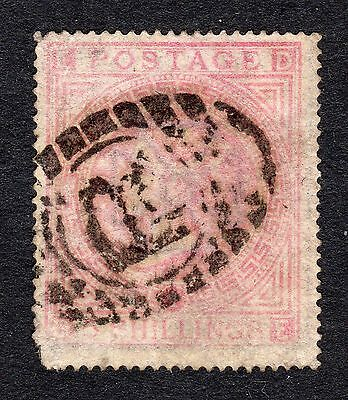 SG127   5/- Pale Rose Plate 1 - Wmk Maltese X - Fine Used with fault - Cat £675
