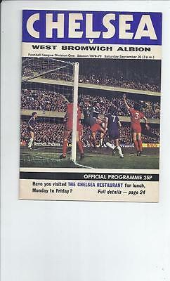 Chelsea v West Bromwich Albion Football Programme 1978/79