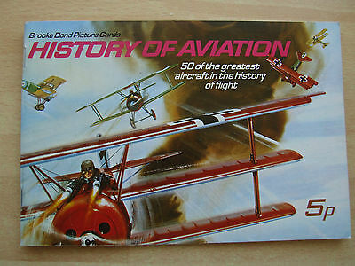 BROOKE BOND. 'History Of Aviation'.EMPTY ALBUM. PLANES. AIR.