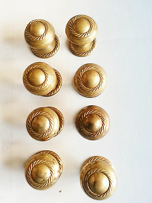 FOUR PAIRS OF Vintage Brass Cupboard Door Knobs - More available