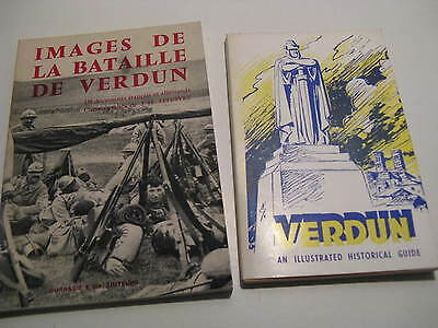 2 Bücher über VERDUN illustrated historical IMAGES DE LA BATAILLE DE VERDUN