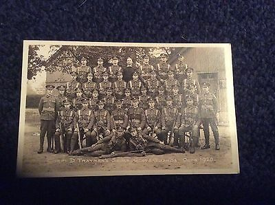 CORP D TRAYNERS SQUAD,SCOTS GUARDS 1920,   This card has a blank back.