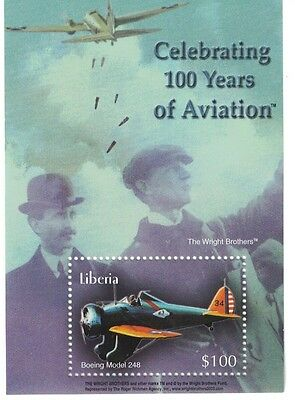 Liberia - 2003 Celebrating Aviation, Wright Brothers - S/S MNH