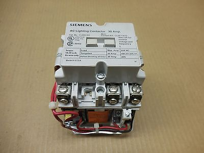 1 New Siemens Clm0C03277 Ac Lighting Contactor 30 Amp 3 N.o. Open 30A 277V Coil