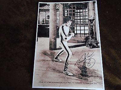Signed A4 Print of Martial Arts Icon Bruce Lee