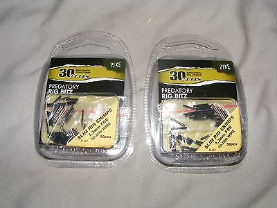 2 Packs of Pike Fishing Rig Crimps. 50 pieces in each. NEW