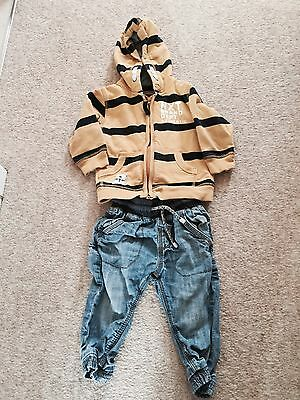 Baby Boy Jeans And Hoodie Bundle From Next Age 9-12 Months