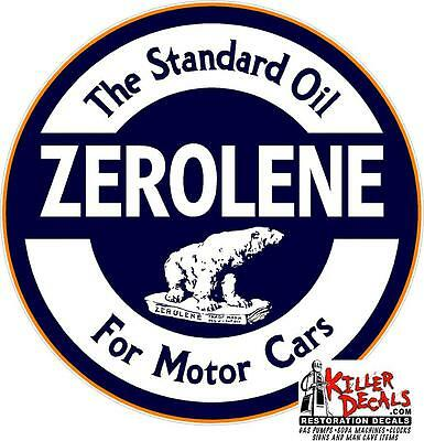 "3"" Standard Zerolene Lubster Oil Can Gasoline Gas Decal"