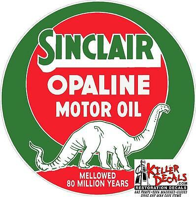 "12"" Sinclair Opaline Lubster Oil Can Gasoline Gas Decal"