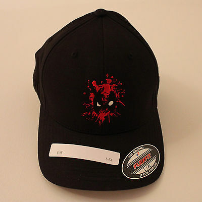 *RARE* DEADPOOL Movie Film Crew Wrap Gift - Black Fitted Cap/Hat - COLLECTIBLE!