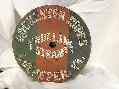 Vintage Nautical Trolling Strand Wooden Spool Fishing Wire Culpeper Va