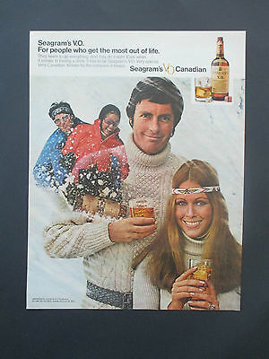 """Vintage 1972 Seagram's VO Canadian Whisky Print Ad, 13.125"""" X 10.125"""""""
