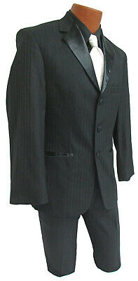 High Quality Black 100% Wool After Six Jaguar Striped Tuxedo With Pants Cheap!!!