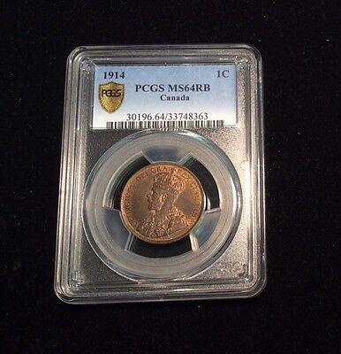 1914 Canadian One Cent - PCGS MS64RB