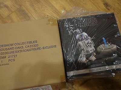Sideshow Exclusive Star Wars R2-D2 Deluxe Figure with Shipper.