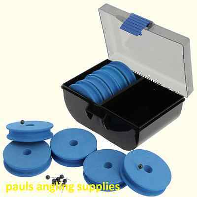 Sea Fishing  EVA Winder Box With  10 Winders for Rig Hook Lengths etc