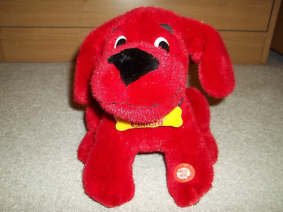 """Clifford The Big Red Dog Interactive Electronic 7 1/2"""" Plush Stuffed Animal Toy"""