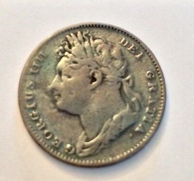 1821 GEORGE 4th FARTHING  Fine Condition.