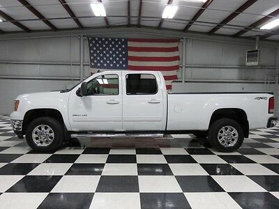 2011 GMC Sierra 3500 SLT Crew Cab Pickup 4-Door 2500 1 Owner White Single Wheel Long Bed Duramax Allison Warranty Financing NICE