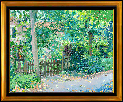 Pierre Bittar Large Original Oil Painting On Canvas Signed French Landscape Art