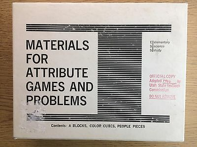 1967 Materials for Attribute Games & Problems Elementary Science Study ESS LOOK