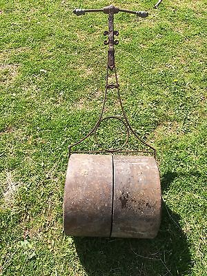 Vintage Old Antique Cast Wrought Iron Garden Lawn Roller