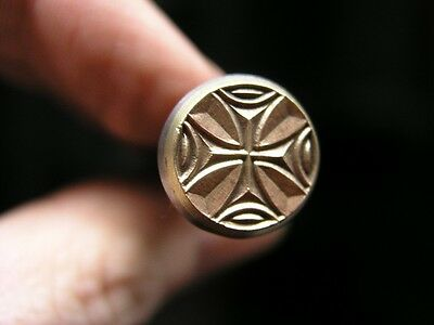 014-02 Cross in Circle Leather stamp homemade Saddlery Tool