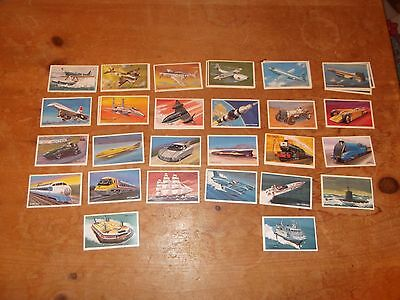 36 EMBASSY Cigarette Cards - World of Speed