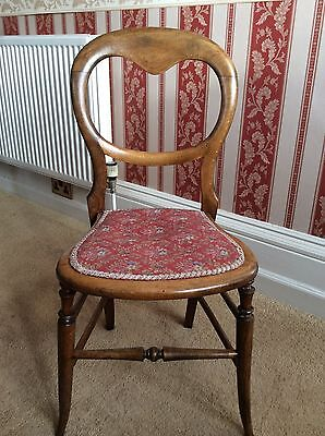 Antique Victorian  Wood Dining Kitchen Hall Chair Turned Legs & Spindles
